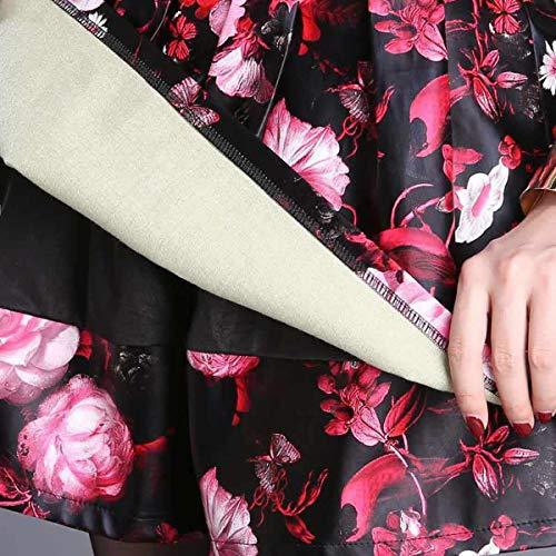 Taille Jupe Short DISSA FS562 Club PU Rouge Grande Mini Cuir nwYH14Rqx