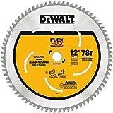 DEWALT DWAFV31278 Flexvolt 78T Miter Saw Blade, 12'