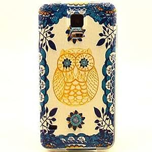 WQQ Owl Pattern TPU Soft Case for S5 I9600
