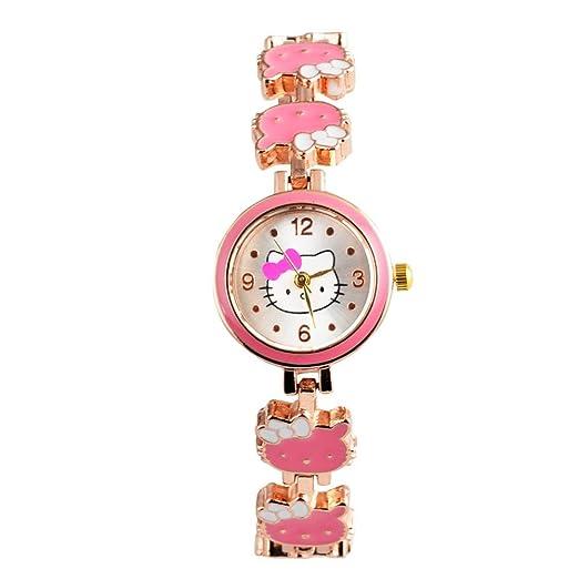 Reloj rosa para niñas, relojes para niños, bonitos relojes para niños, pulsera de dibujos animados, reloj de bebé, regalo de monstruo: Amazon.es: Relojes