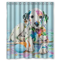 Easter Dalmatain Puppy Custom Shower Curtain