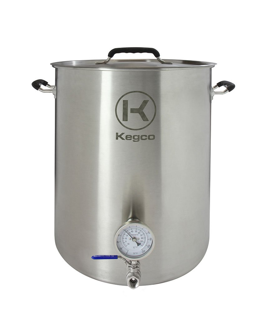 Kegco 15 Gallon Brew Kettle with Thermometer & 2-Piece Ball Valve