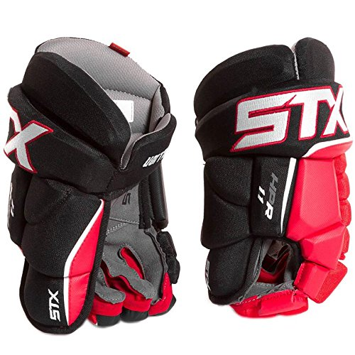 STX Ice Hockey Stallion HPR 1.1 Junior Ice Hockey Glove, Black/Black, - Black Gloves Hockey Junior