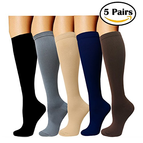 Capable Unisex Medical Compression Socks Women Men Pressure Varicose Veins Leg Relief Pain Knee High Stockings Socks Men 1pair New Hot Low Price Underwear & Sleepwears