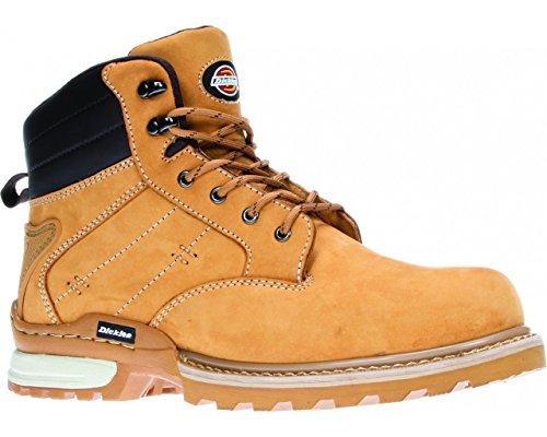 Avec Canton Miel Sécurité De Dickies Chaussures Protection Coque Beige Acier En Cuir Fd9209 RAHW6Wn0