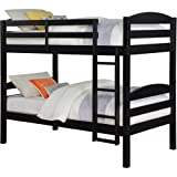 Mainstays Twin over Twin Wood Bunk Bed - Black