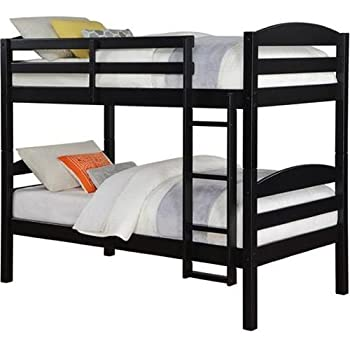 Merveilleux Mainstays Twin Over Twin Wood Bunk Bed   Black