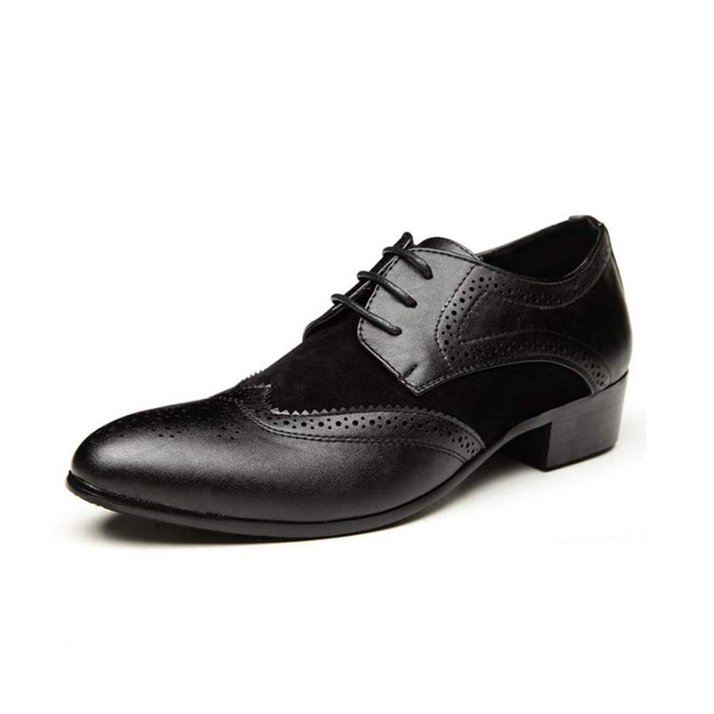 Phil Betty Mens Business Oxford Shoes Lace Up Simple Comfortable Dress Shoes