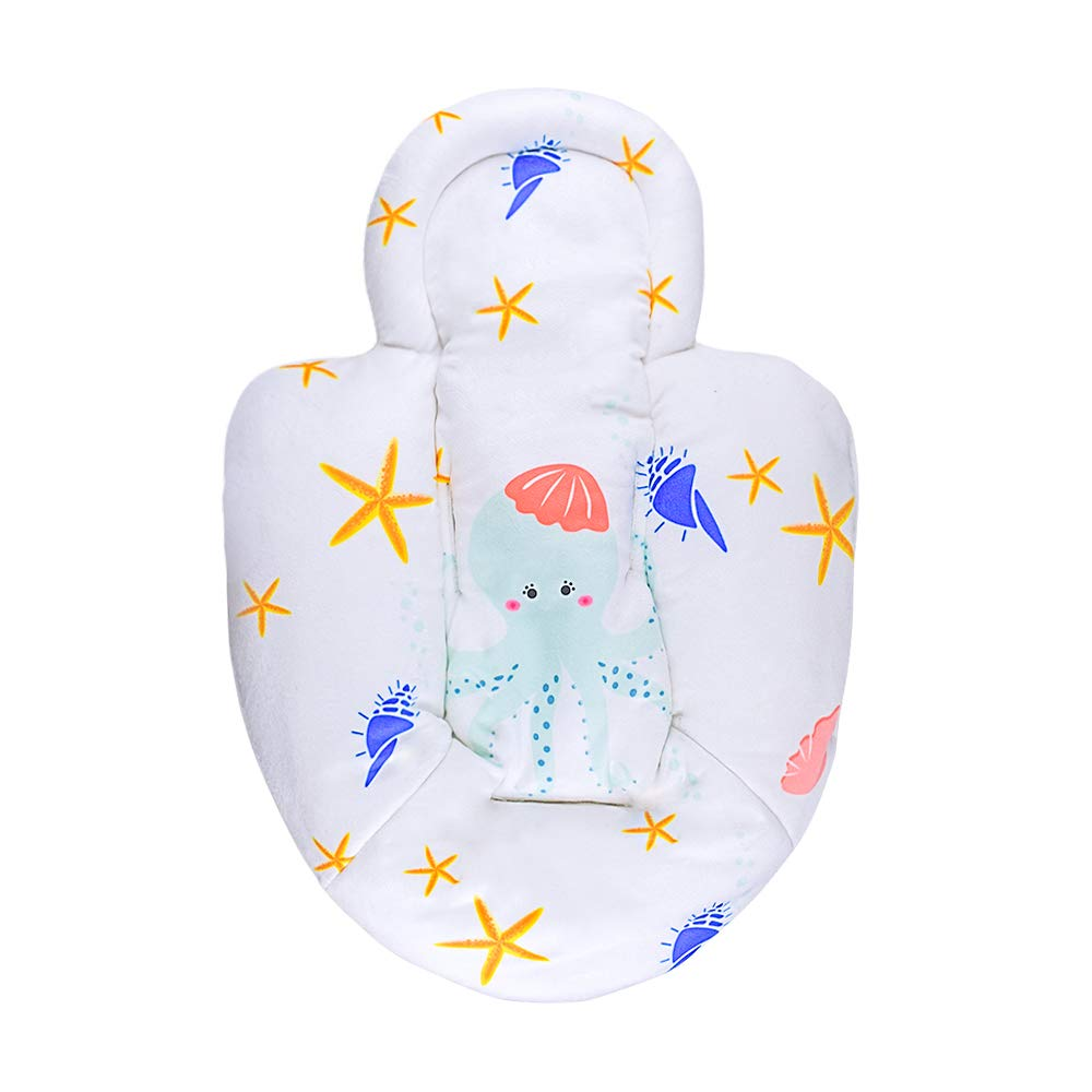 Topwon Newborn Infant Support Cushion Liner Body Support Pillow for Baby Swing//Bassinet Octopus