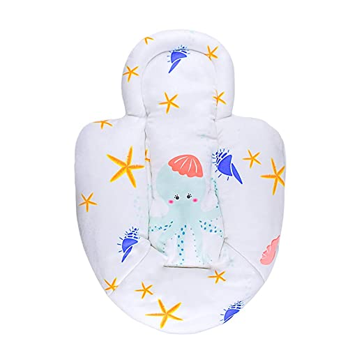 Topwon Newborn Infant Support Cushion Liner Body Support Pillow for Baby Swing/Bassinet (Octopus)