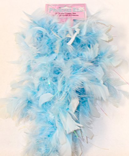 Blue Feather Princess Boa Halloween Costume Accessory 4 Feet NIP ()