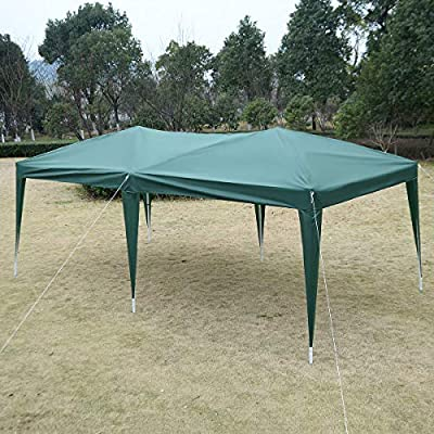 Kanizz Portable 10'x20' Standard Gazebo Temporary Office, Easy Set-Up Pop -Up Patio Garden Celemony Tent Gazebo, Outdoor Medical Clinic Wedding Birthday Party Event Tent, UV&Rain Protection, Green : Garden & Outdoor