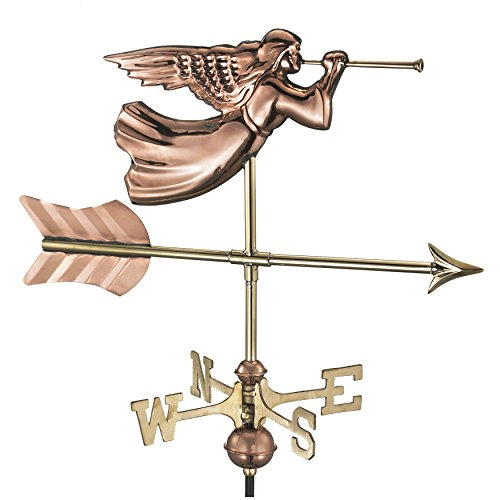 Good Directions Angel Cottage Weathervane with Roof Mount, Pure (Good Directions Cottage Weather Vane)