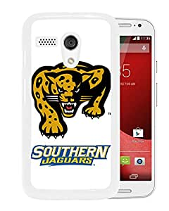 NCAA Southern Jaguars 04 White Motorola Moto X Protective Phone Cover Case