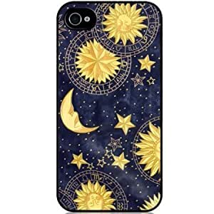 S9Q Vintage Retro Sun Moon Space Nebula Pattern Hard Back Skin Case Cover For Apple iPhone 4 4G 4S Style A (classic 3) by runtopwell