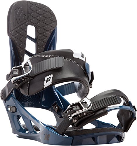 K2 Men's Indy: Snowboard Bindings (Blue, Large)