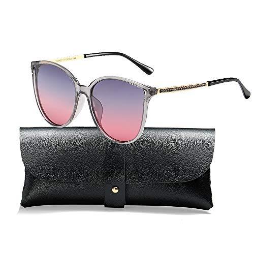 Polarized Sunglasses for Women 100% UV Protection Vintage Cateye Sunglasses Anti-glare Lens, Grey Frame