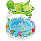 "Intex Sea Turtle Shade Inflatable Baby Pool, 40"" X 42"", for Ages 1-3"