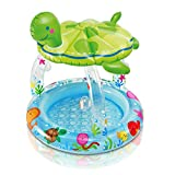 Intex Sea Turtle Shade Inflatable Baby Pool, 40'' X 42'', for Ages 1-3