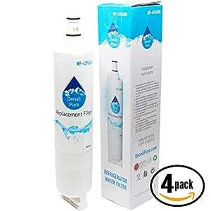 4-Pack Replacement KitchenAid KSSC42FMS Refrigerator Water Filter - Compatible KitchenAid 4396508, 4396509, 4396510 Fridge Water Filter Cartridge