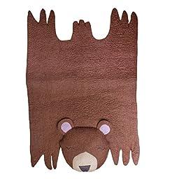 Nursery Decor - Children\'s Playmat - Bear Felted Wool Rug