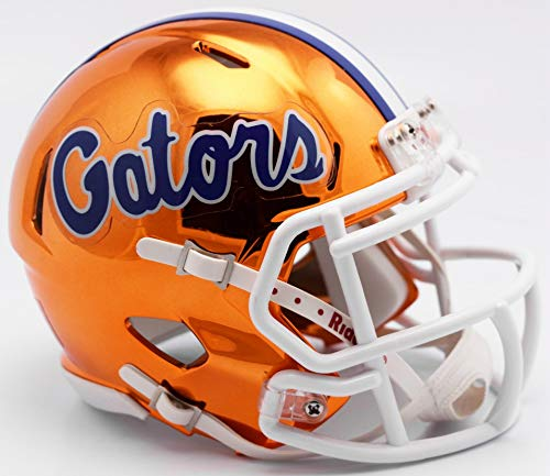 Riddell Chrome Florida Gators Speed Mini Football Helmet - 2018 Chrome Alternate