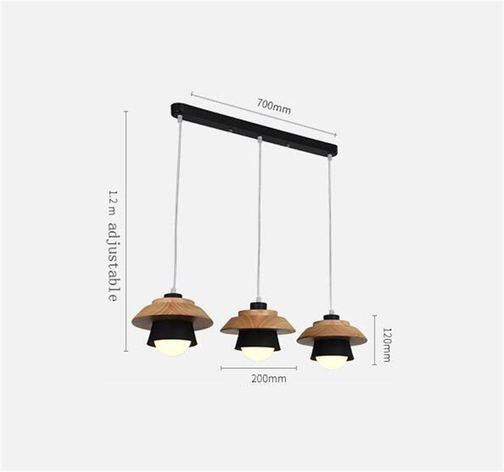 GBT Nordic Iron Wood Creative Modern Personality Chandelier, Taiwan Colors Restaurant Cafe Bar Chandelier / Two Colors Taiwan /,3a, negro 375ea4