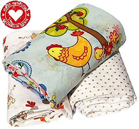 Premium 100 Organic Cotton Baby Swaddling Receiving Blankets Baby Boy Girl Set 3.Large Light Baby Swaddle Blankets Made in Europe Big Size 37