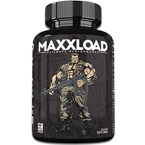MAXXLOAD | Ultimate Male Pills (60 Capsules) #1 Enlargement Booster for Men | Increase Energy, Mood, Size & Endurance | All Natural Performance Enhancing Supplement | 1 Month Supply