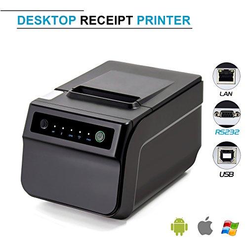 (USB Thermal Receipt Printer,Symcode Ethernet/LAN, Serial Port - Auto Cutter - Cash Drawer Port - Paper Width 3 1/8