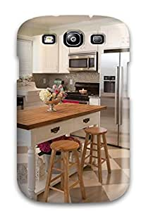 AndreaPope Premium Protective Hard Case For Galaxy S3- Nice Design - Kitchen With White Cabinets And Island by mcsharks