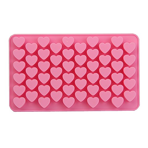[Wrisky New Silicone Ice Cube Candy Chocolate Cake Cookie Cupcake Soap Molds Mould DIY (55 - Hearts)] (Halloween Cupcake Ideas Kids Decorate)