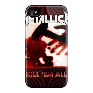 For Iphone 4/4s Phone Cases Covers(metallica Kill Them All)
