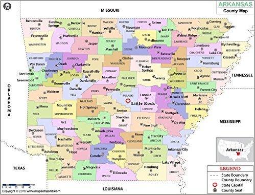 Arkansas County Maps - Arkansas County Map (36