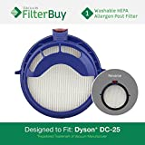 Dyson DC25 (DC-25) Post Motor Filter, Part # 916188-05. Designed by FilterBuy to fit Dyson DC-25 Ball All-Floors Upright Vacuum Cleaner.