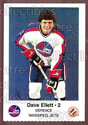 (CI) Dave Ellett Hockey Card 1984-85 Winnipeg Jets Police 6 Dave Ellett