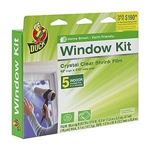 Duck Brand Indoor 5-Window Shrink Film Insulator Kit, 62-Inch x 210-Inch, 281504