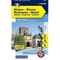 K&F Elsass / Vogesen Outdoorkarte 02 Elsass - Mulhouse - Basel 1 : 50 000 (Kümmerly+Frey Outdoorkarten Frankreich)