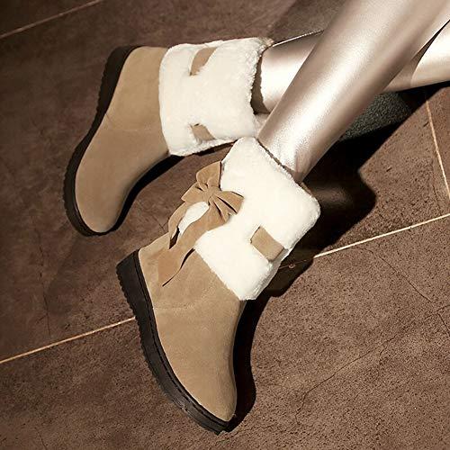 Chaude Apricot Bottes Coton Court Neige Nouvelle Tube Femme De Occasionnels Épaisse Hiver Antidérapante Et Plat Chaussures ZZwqnxz5I