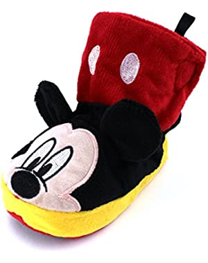 Mickey Mouse Boys Boot Slippers (Toddler/Little Kid)