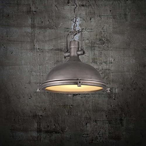 "Industrial Nautical Style Single Pendant Light-LITFAD 18"" Wide Adjustable Pendant Lamp"