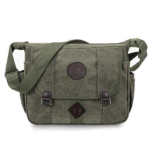 Messenger Bag, LOSMILE Vintage Shoulder Bag Canvas Crossbody School Bag for Men
