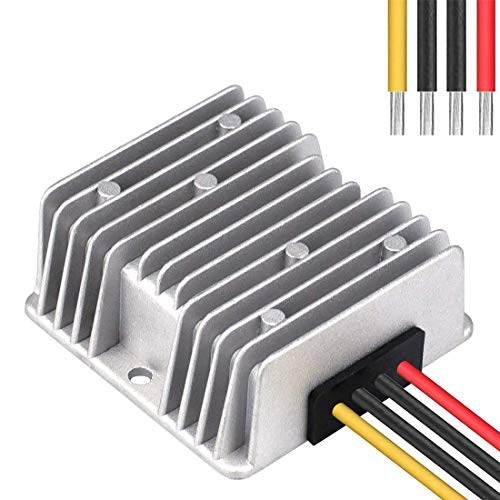 Higomall Voltage Converter Regulator Reducer DC 48V Step Down to 12V 20A 240W Waterproof DC/DC Buck Transformer for Golf Cart LED Light Bar Power Supply