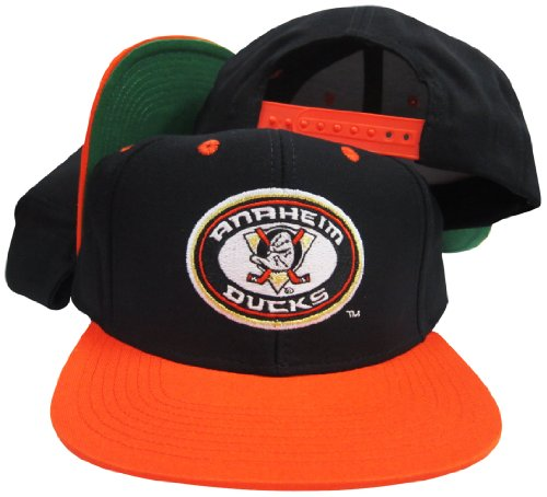 Reebok Anaheim Mighty Ducks Black/Orange Adjustable Vintage Snapback Cap