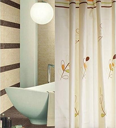 Amazoncom Shower Curtain Set Beige Ivory Floral Fabric Curtain