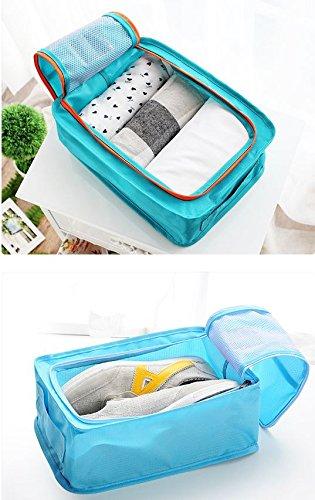 ROMANGTOI Mens Storage Bag Shoes Pouch
