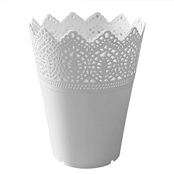 Gespout Blumentöpfe Vase Plastik Blumenvase Pflanzen Set Wohnzimmer  Dekoration Kunststoff Blumenvase Aufbewahrungs Korb Stifthalter Make Up