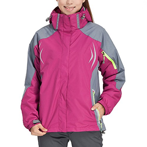 Magcomsen Women's Hiking Waterproof Jacket Fleece Windpro...