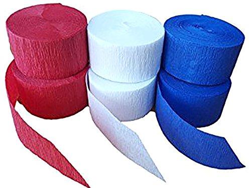 [6 Set Bulk Multi Pack] Crepe Paper Streamer
