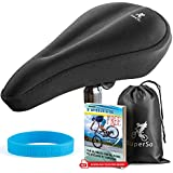 SuperSo Bike Gel Seat Cushion Cover - Premium Padded Bike Saddle - Comfortable Alternative Bicycle Cover for Passionate Cyclists